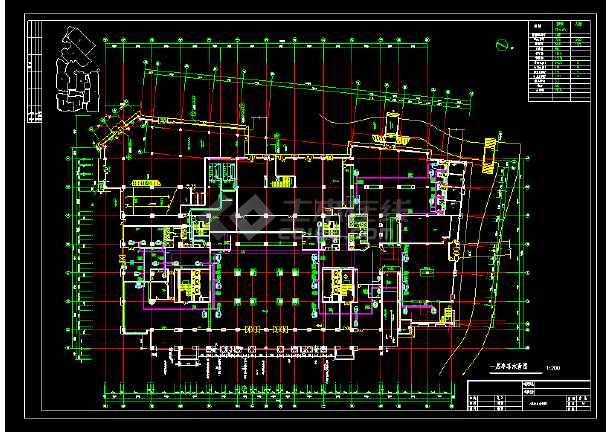酒店全套中央空调cad设计施工图纸-图3