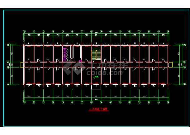 某办公楼建筑水暖管线cad施工平面设计图纸-图2