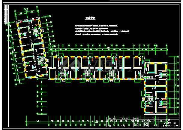 某建筑采暖管线cad平面设计施工图-图2