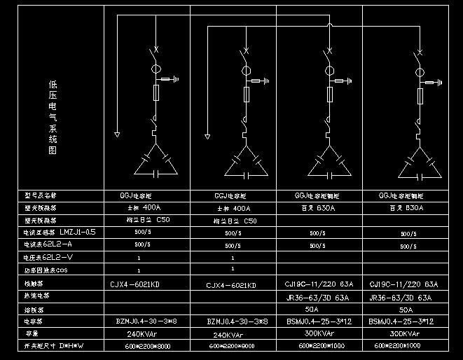 某企业变电站设计cad高低压系统图图片3