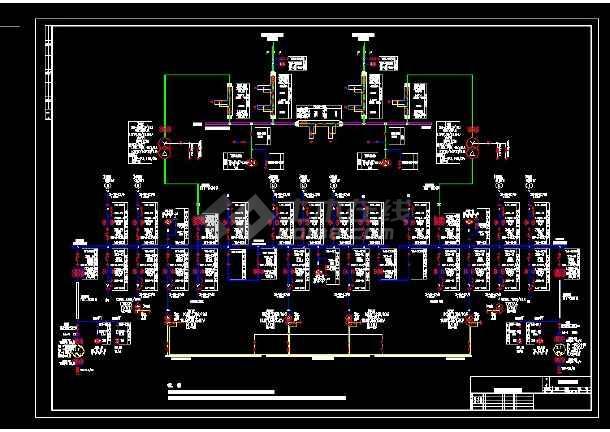 某热电厂工程设计cad电气主接线图-图二