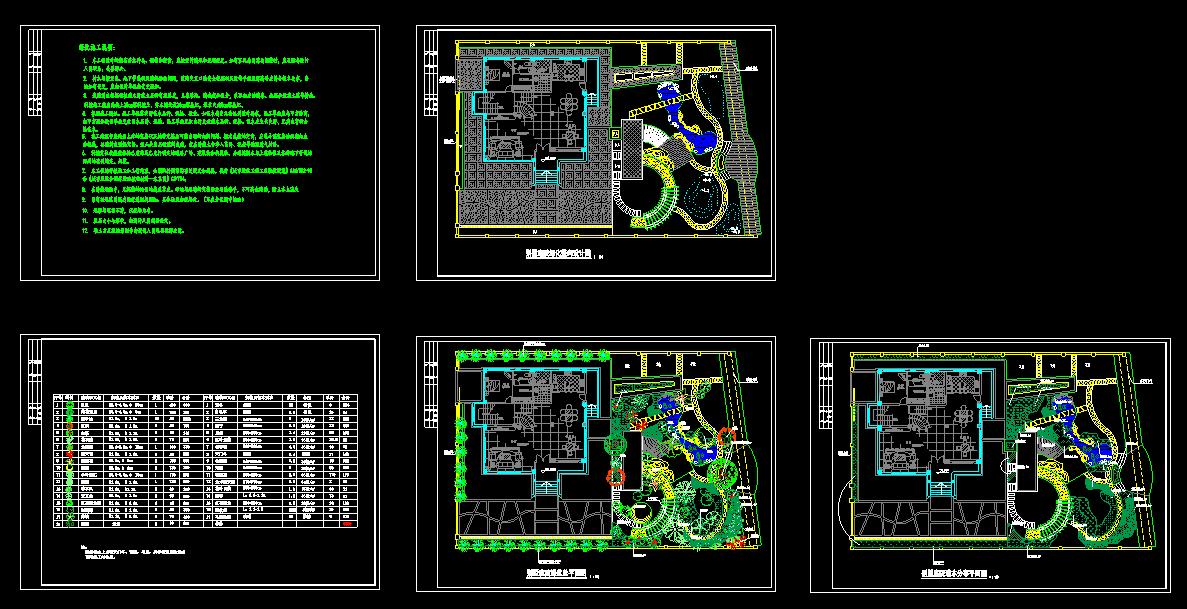 某高级别墅景观绿化CAD建筑设计施工图纸图片1