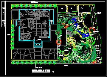 某高级别墅景观绿化CAD建筑设计施工图纸图片2