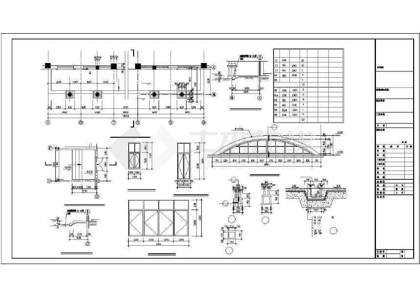 某地比较小型精美的公园食堂施工图纸-图3