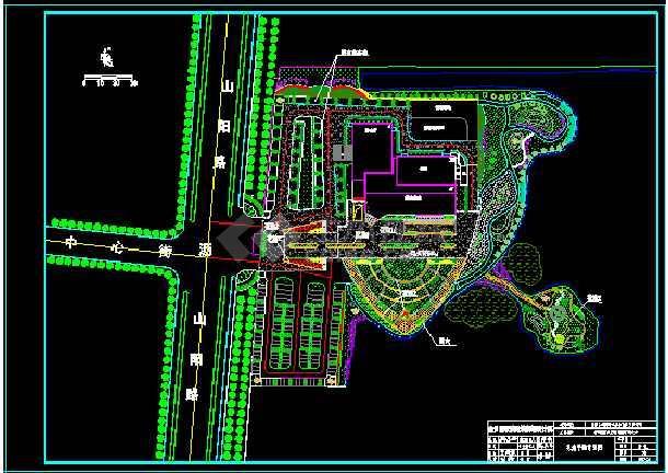 大酒店绿化施工图、铺装节点详图、种植设计平面图-图1