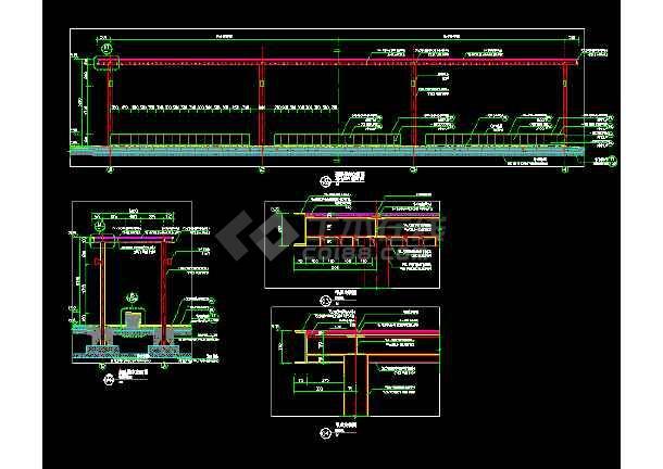 廊架参考 ,弧形廊架 单臂廊架-图1