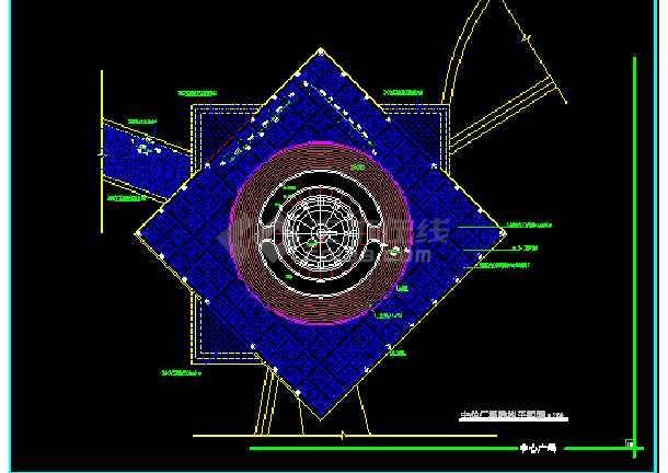 雕塑、休闲、城市广场建筑施工CAD设计图-图1