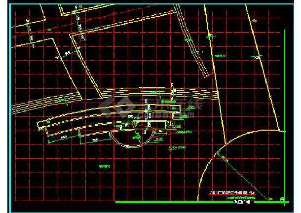 雕塑、休闲、城市广场建筑施工CAD设计图-图2