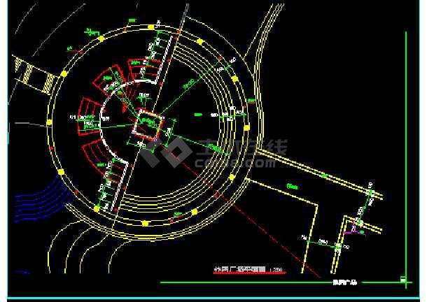 雕塑、休闲、城市广场建筑施工CAD设计图-图3