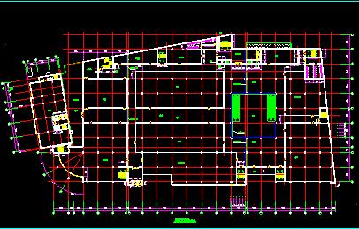 某大型商场设计方案CAD平立剖面图图片2
