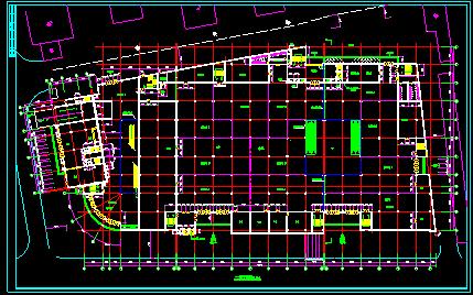 某大型商场设计方案CAD平立剖面图图片3