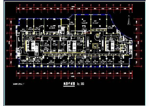 灯饰城的电器施工cad平面设计图-图1