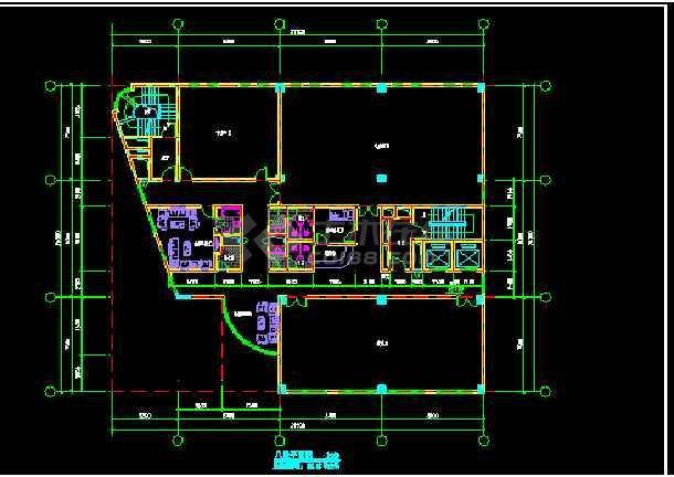 宾馆建筑施工CAD平立面设计方案图-图1