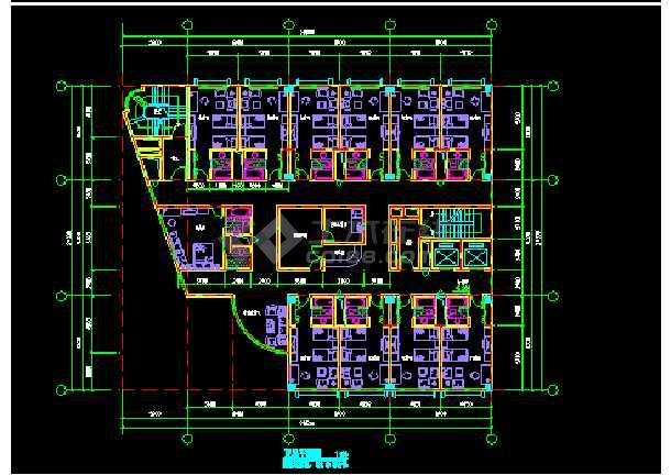 宾馆建筑施工CAD平立面设计方案图-图2