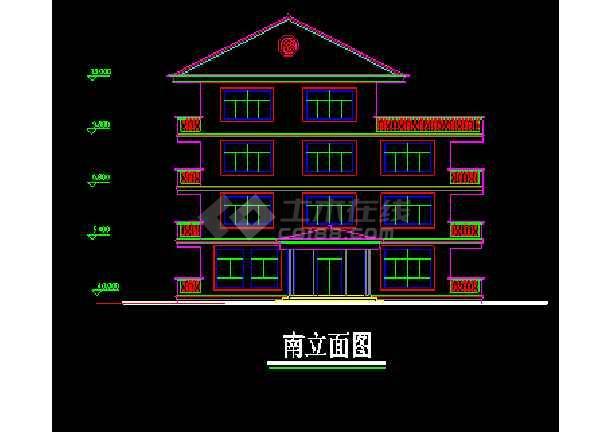 南方某高级别墅设计CAD建筑方案施工图纸-图1