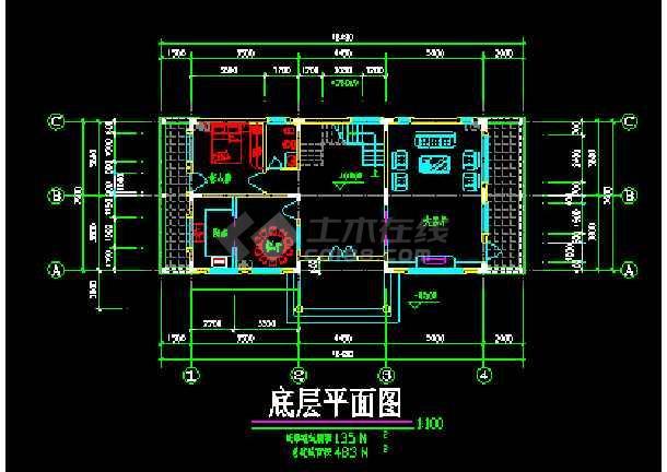南方某高级别墅设计CAD建筑方案施工图纸-图2