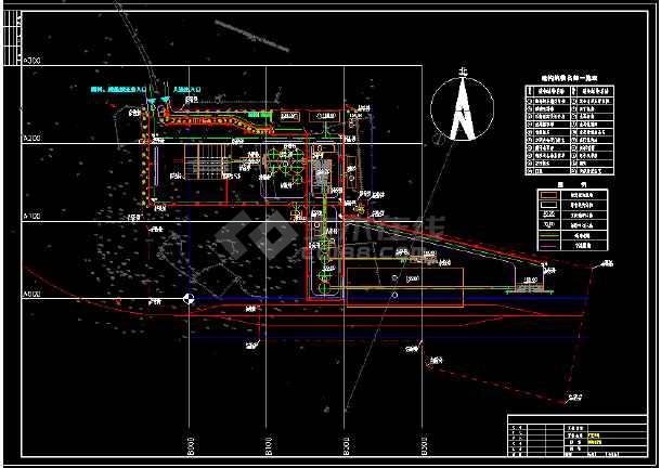 厂区照明设计全套cad平立面施工图纸-图1