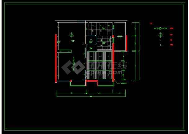 某精品两室一厅家装设计方案cad施工图-图2