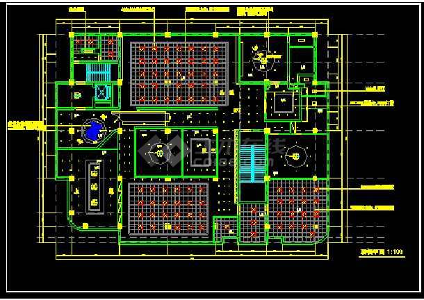 某市电信办公楼装饰CAD施工设计图纸-图2