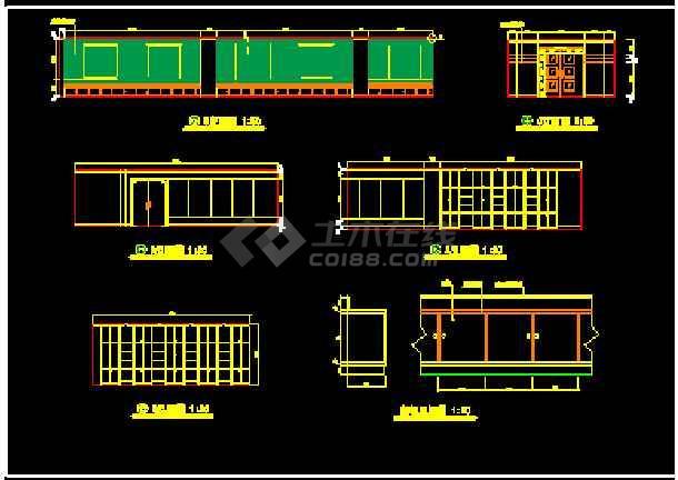 某市电信办公楼装饰CAD施工设计图纸-图3