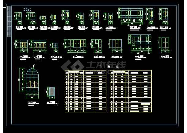 某地区A型别墅设计cad建施图带效果图-图1