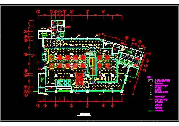 某商场的灯光布局cad设计施工图-图1