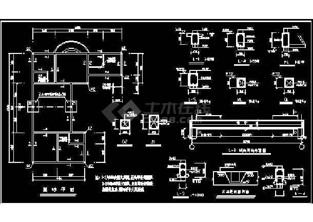 某小区高档别墅设计方案CAD建筑施工图纸-图1
