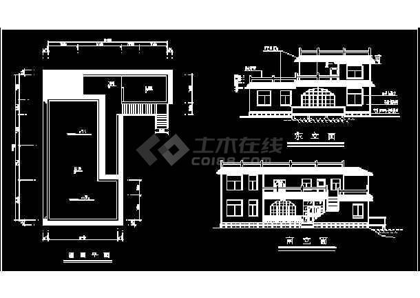 某小区高档别墅设计方案CAD建筑施工图纸-图2