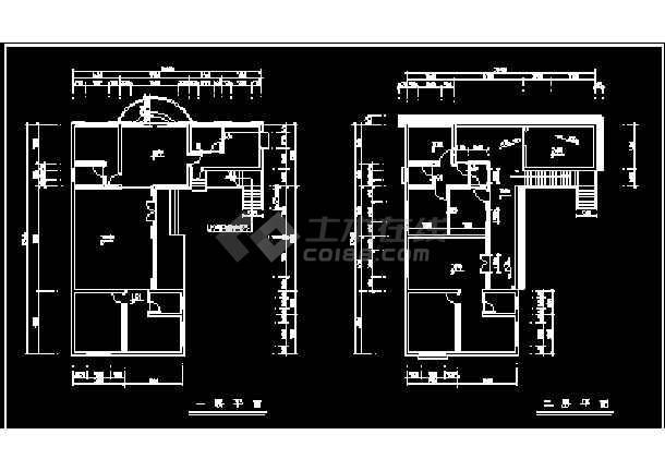 某小区高档别墅设计方案CAD建筑施工图纸-图3