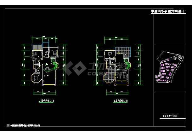 深圳市某风格别墅设计cad建施图带效果图-图1