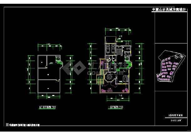 深圳市某风格别墅设计cad建施图带效果图-图3