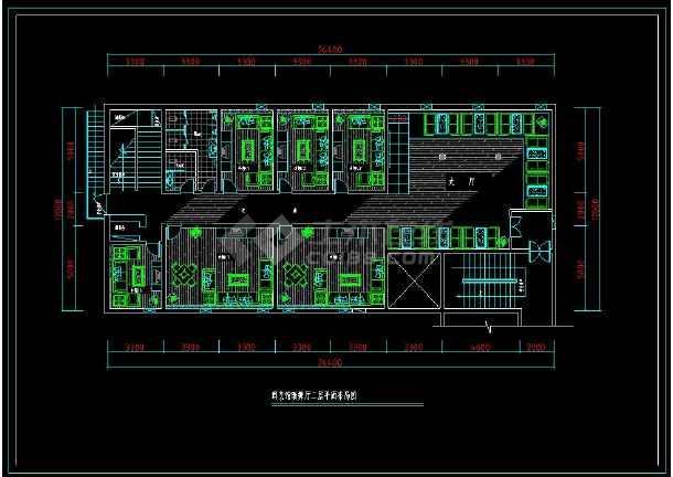 某歌舞厅KTV包房室内装修设计cad施工图-图1