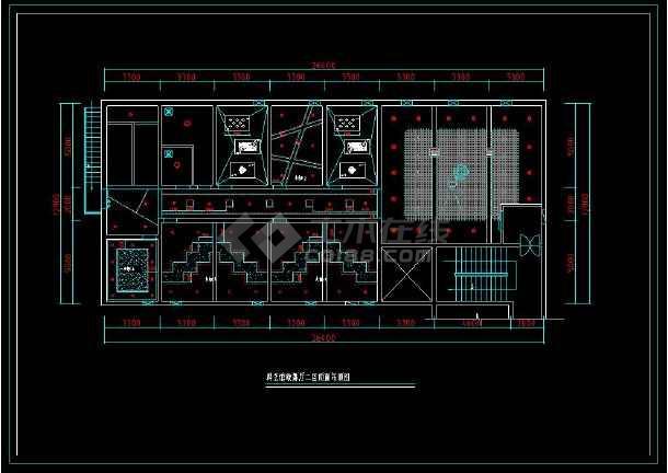 某歌舞厅KTV包房室内装修设计cad施工图-图3