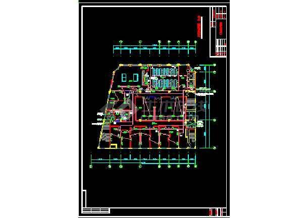 某办公大楼室内装饰强电cad设计图纸-图1