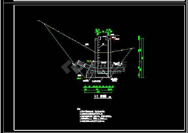 某地管道过沟方案详细图纸详细-图1