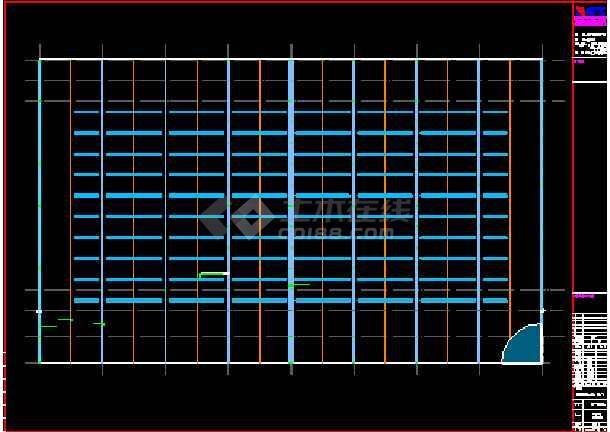 成都某公司钢铁物流A区仓储CAD图-图1