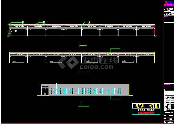 成都某公司钢铁物流A区仓储CAD图-图2