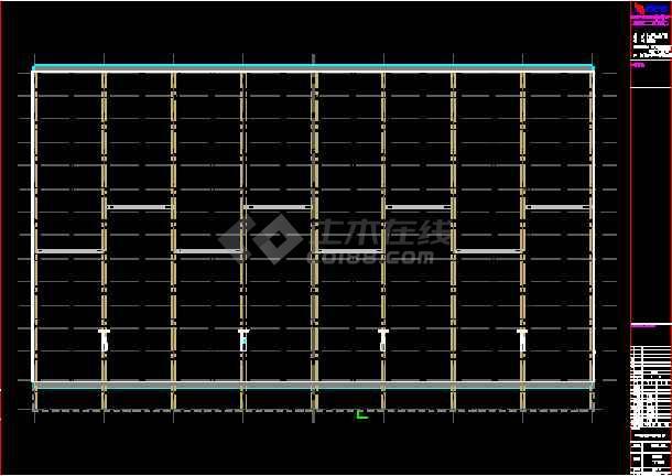 成都某公司钢铁物流A区仓储CAD图-图3