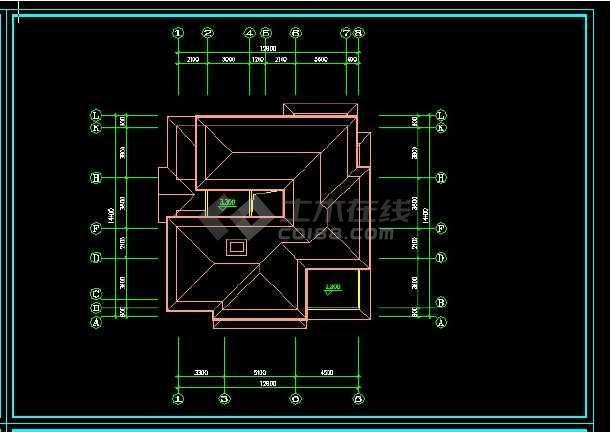 某地区某风格别墅设计cad施工图带效果图-图1