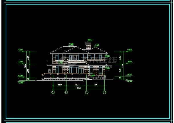 某地区某风格别墅设计cad施工图带效果图-图3