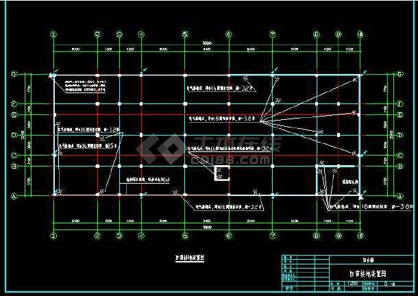 某办公楼电气照明cad平面设计图-图2