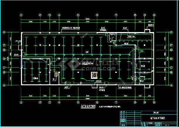 某办公楼电气照明cad平面设计图-图3