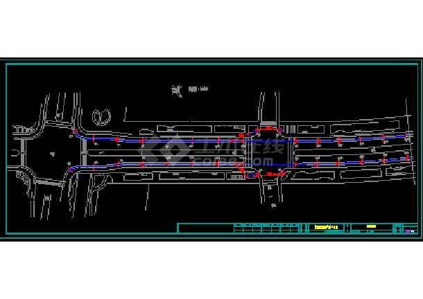 某市道路的路灯设计cad平面施工图-图1