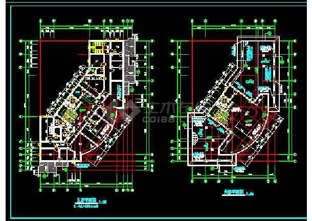 滨江新区新桥村小区会所CAD建施图-图1