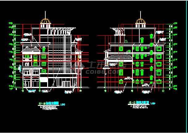 滨江新区新桥村小区会所CAD建施图-图3