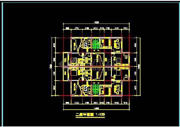 某市水岸豪华型别墅建筑CAD施工设计方案图纸-图1