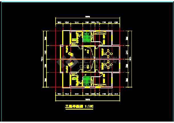 某市水岸豪华型别墅建筑CAD施工设计方案图纸-图2
