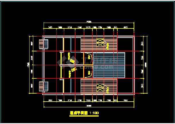 某市水岸豪华型别墅建筑CAD施工设计方案图纸-图3