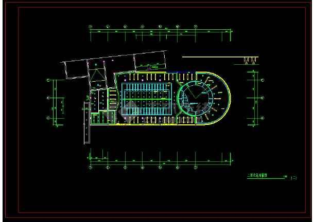 某地商业银行室内装修设计cad施工方案图-图1