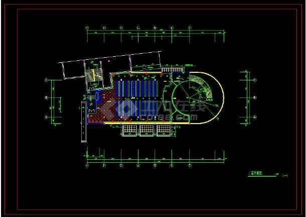 某地商业银行室内装修设计cad施工方案图-图3